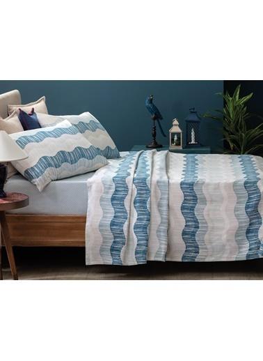 Madame Coco Niels Çift Kişilik Baskılı Pike Takımı - Mavi Mavi